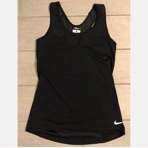 NWOT Nike Dri-Fit Black Mesh Detail Back Tank